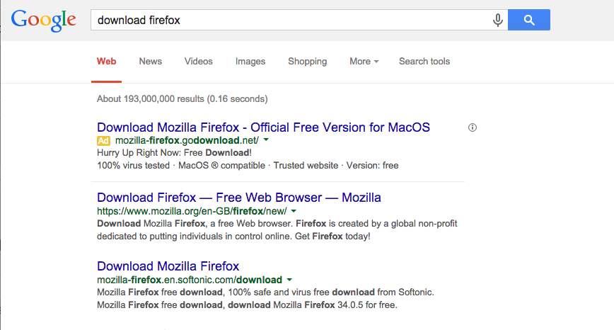 Google kicks malware off Firefox result pages | Alex Muir